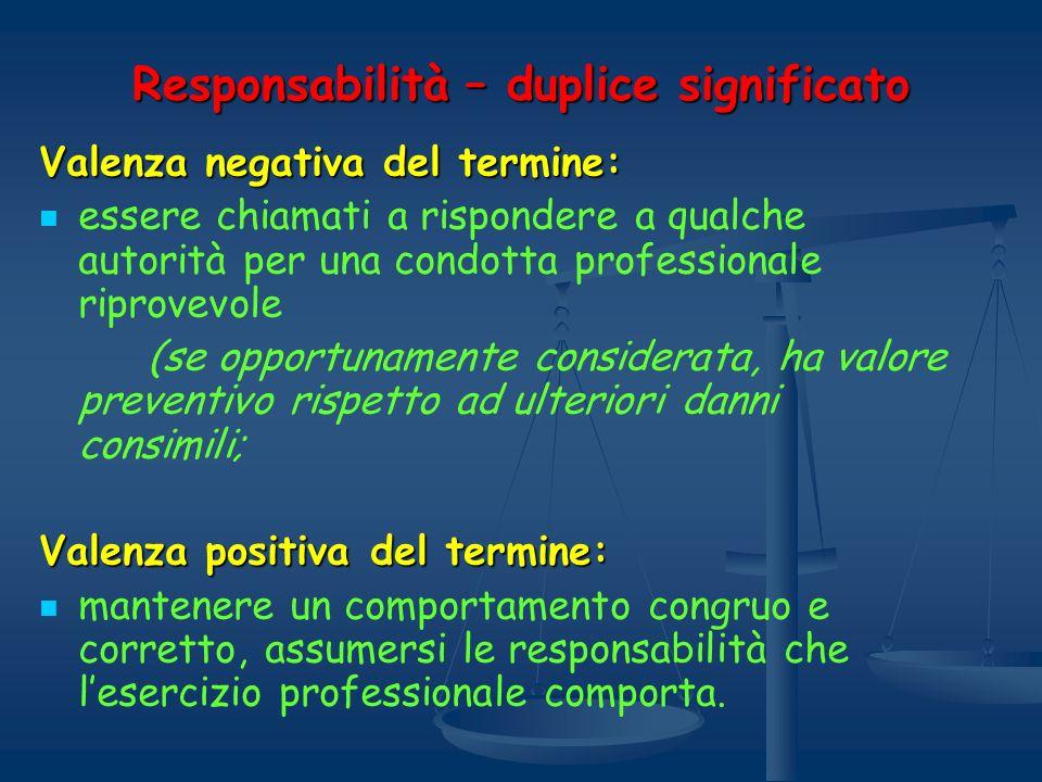 Responsabilità – duplice significato