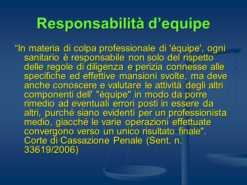 Responsabilità d'equipe
