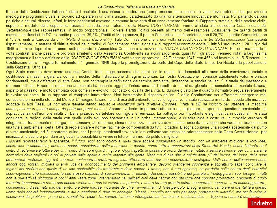 La Costituzione Italiana e la tutela ambientale