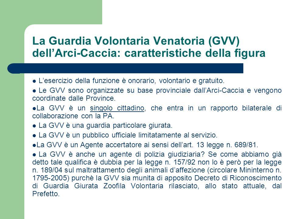 La Guardia Volontaria Venatoria (GVV) dell'Arci-Caccia: caratteristiche della figura
