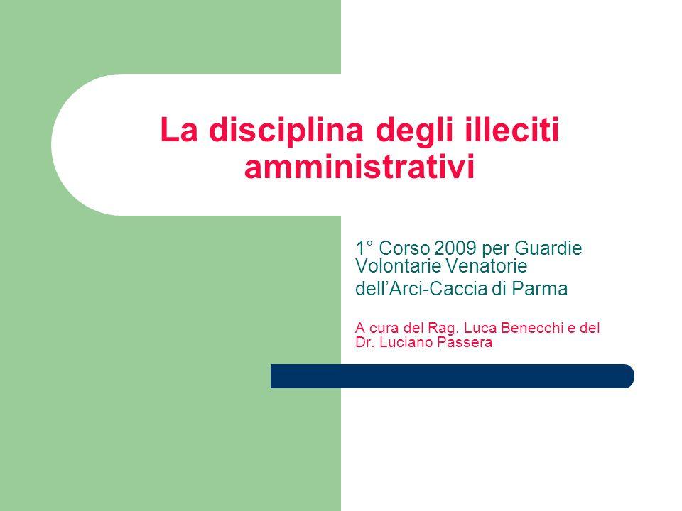 La disciplina degli illeciti amministrativi