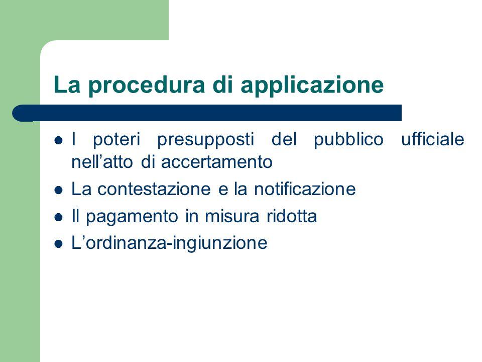 La procedura di applicazione