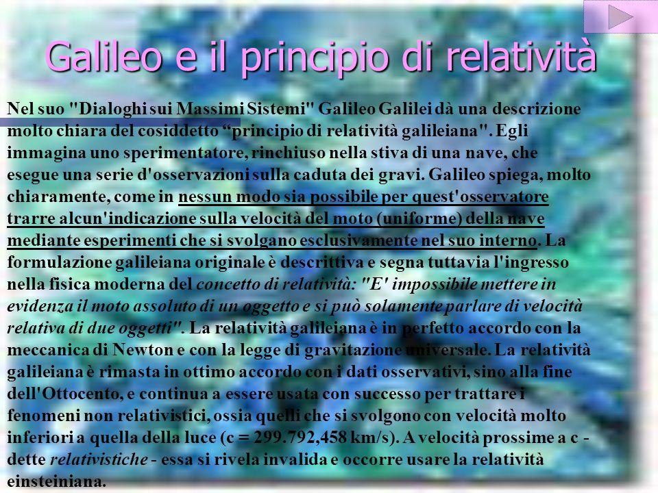 Galileo e il principio di relatività