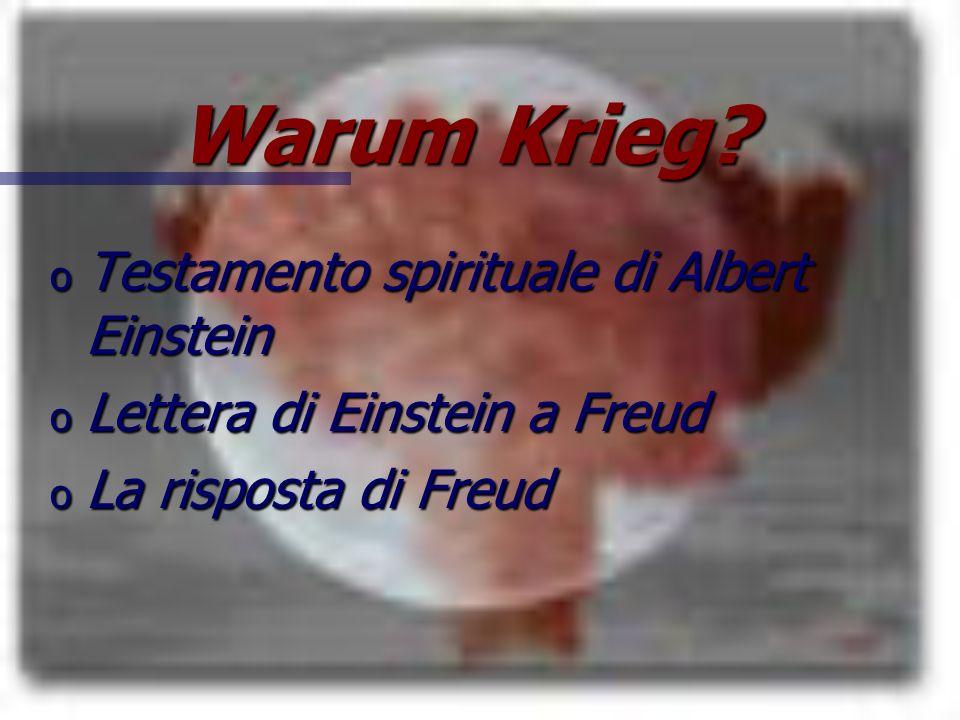 Warum Krieg Testamento spirituale di Albert Einstein