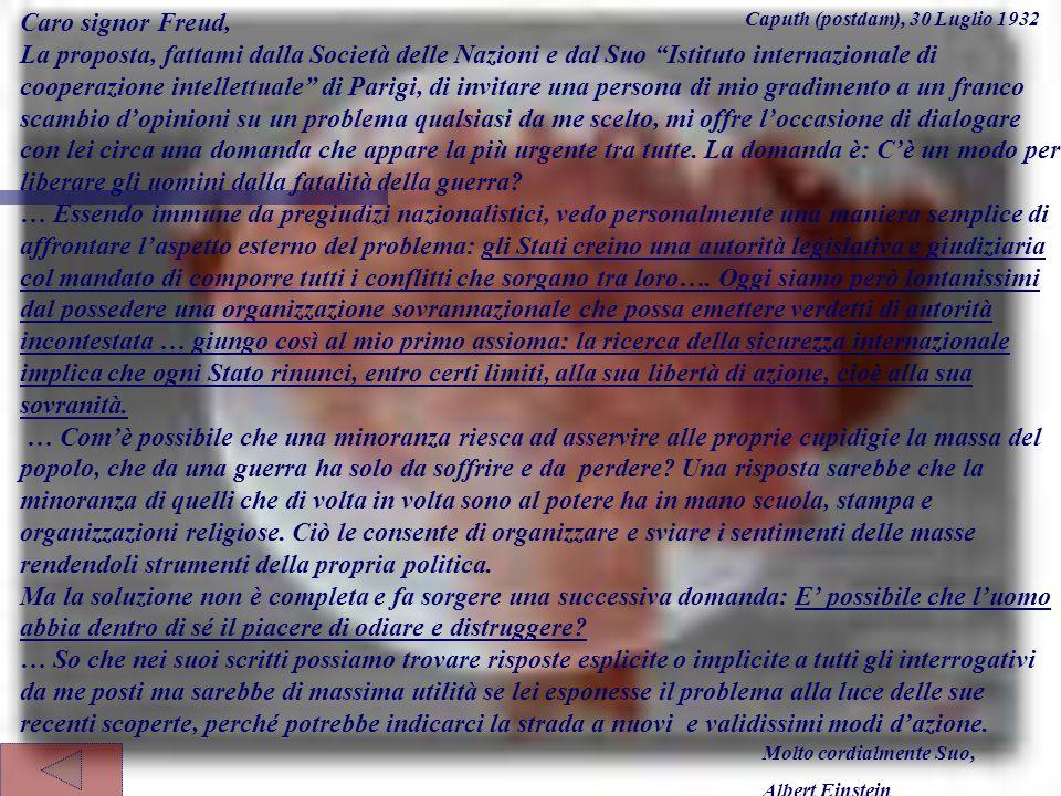 Caro signor Freud,