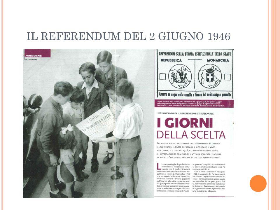 IL REFERENDUM DEL 2 GIUGNO 1946