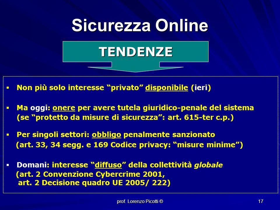 Sicurezza Online TENDENZE