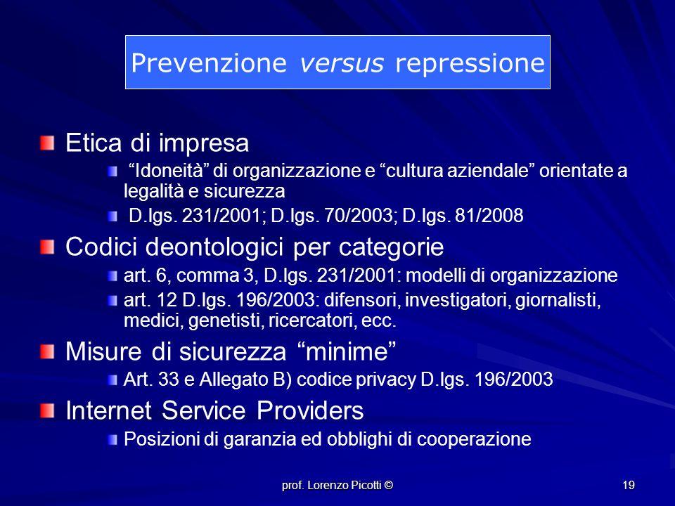 Prevenzione versus repressione
