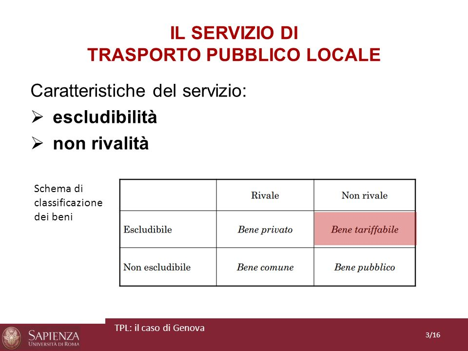 IL SERVIZIO DI TRASPORTO PUBBLICO LOCALE