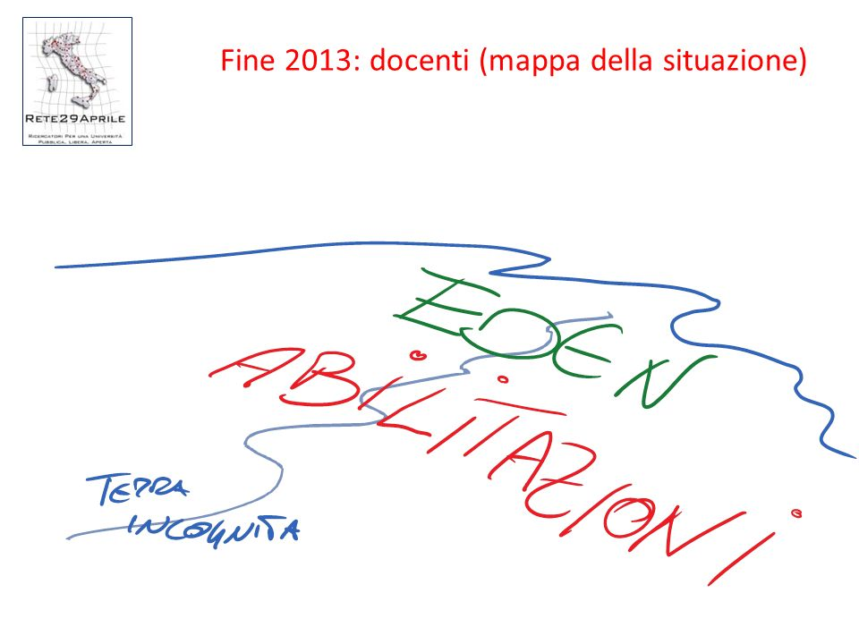 Fine 2013: docenti (mappa della situazione)