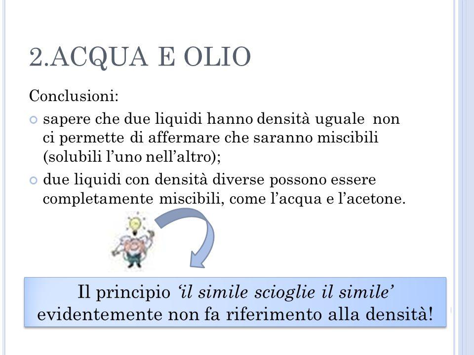 2.ACQUA E OLIO Conclusioni: