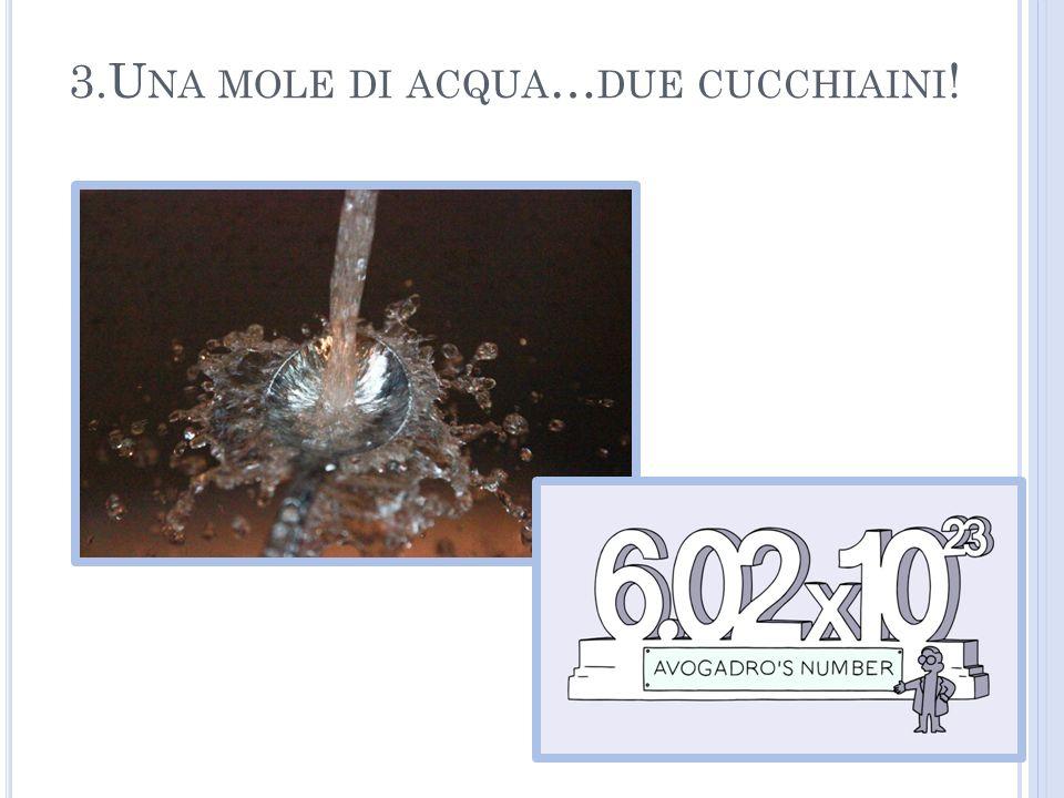 3.Una mole di acqua…due cucchiaini!
