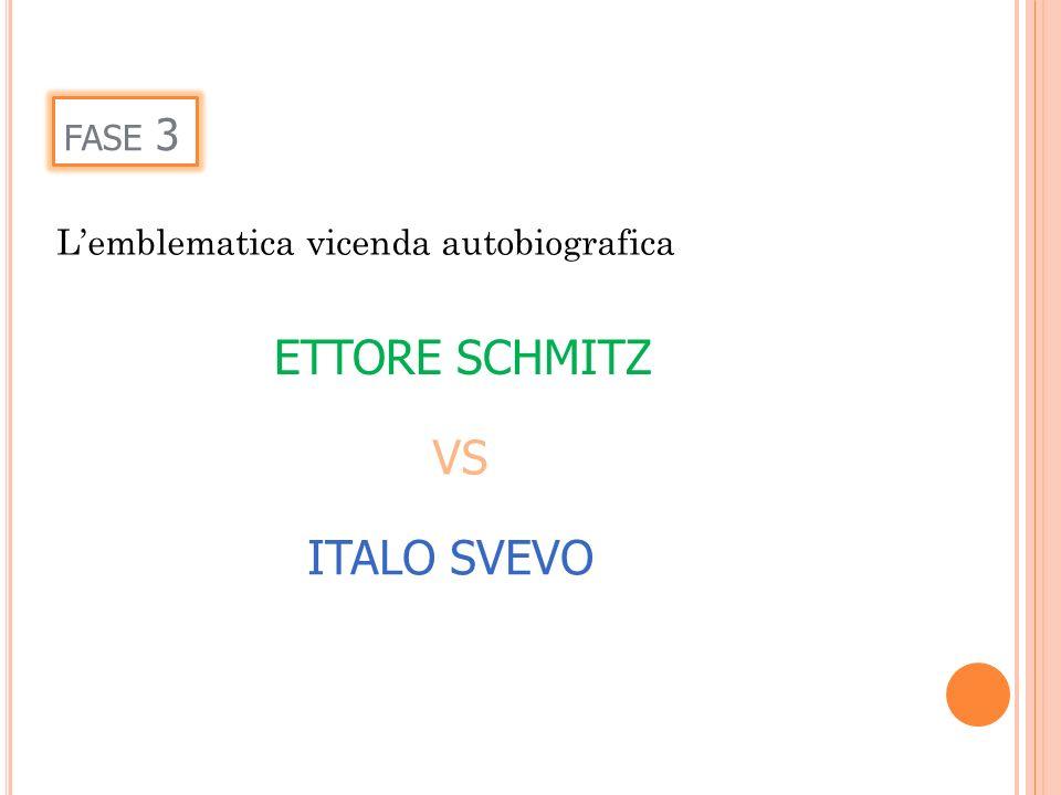 ETTORE SCHMITZ VS ITALO SVEVO fase 3
