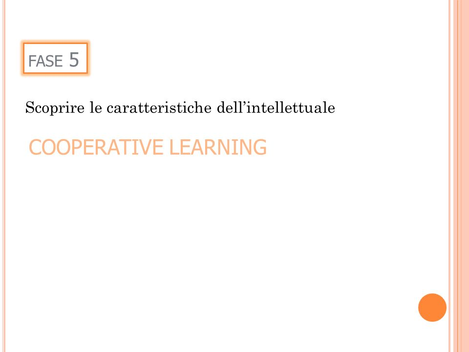 COOPERATIVE LEARNING fase 5