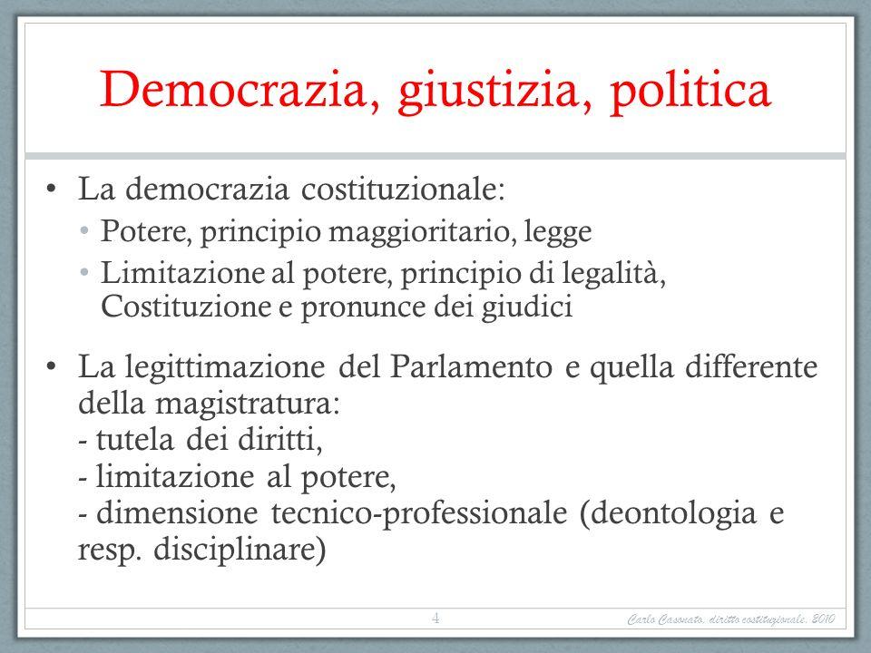 Democrazia, giustizia, politica