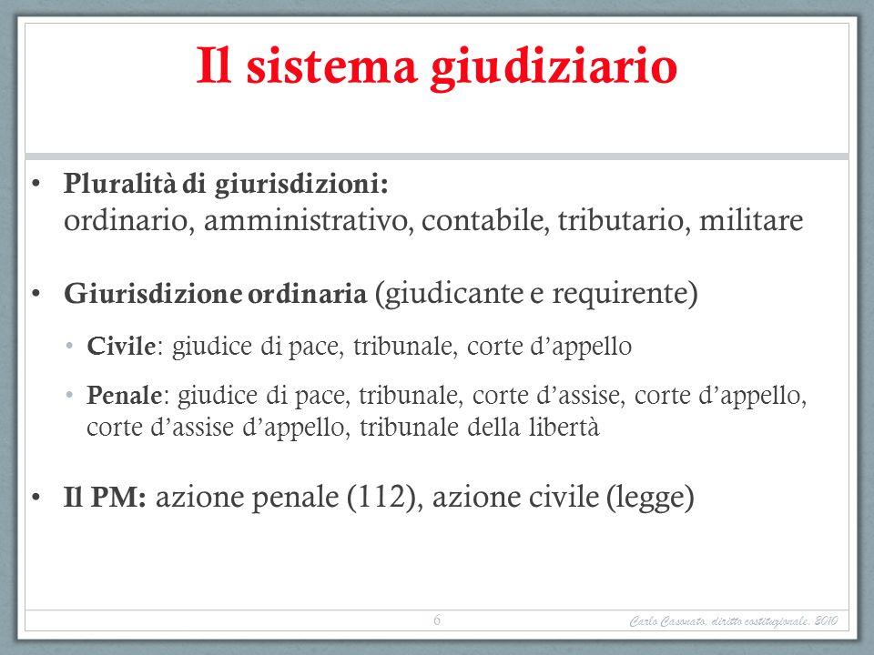 Il sistema giudiziario