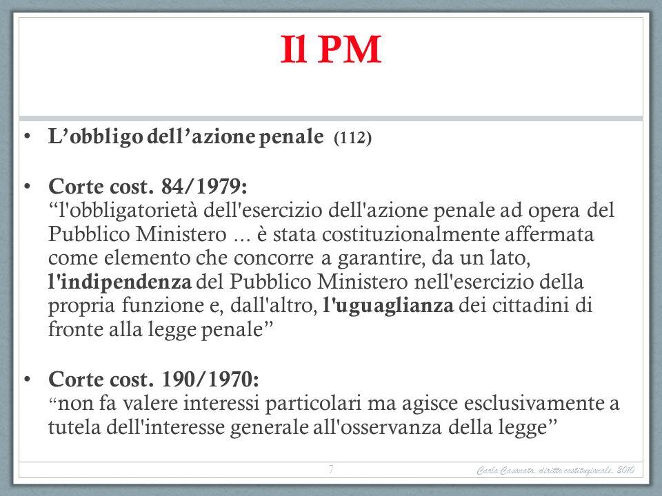 Il PM L'obbligo dell'azione penale (112)