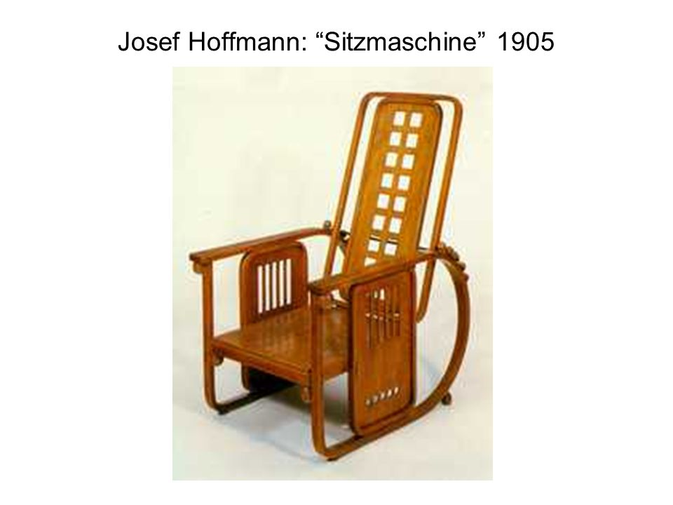 Josef Hoffmann: Sitzmaschine 1905