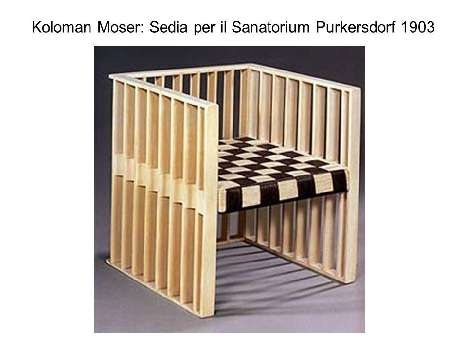 Koloman Moser: Sedia per il Sanatorium Purkersdorf 1903