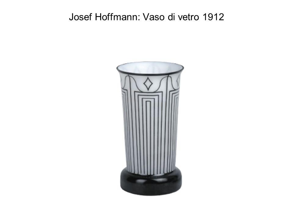 Josef Hoffmann: Vaso di vetro 1912