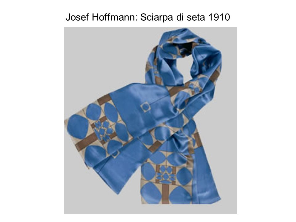 Josef Hoffmann: Sciarpa di seta 1910