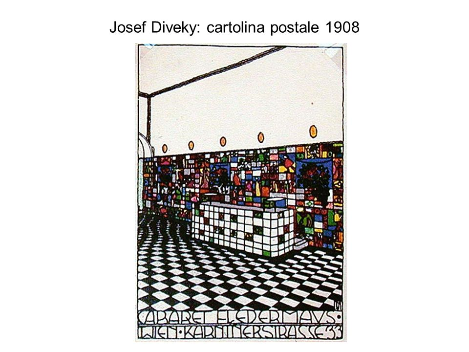 Josef Diveky: cartolina postale 1908