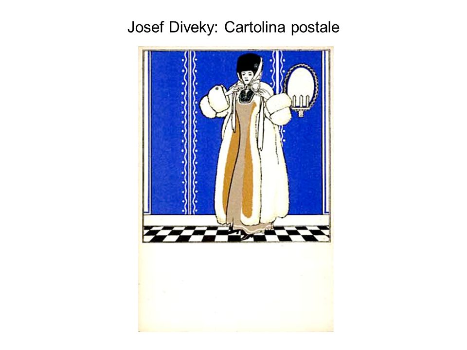 Josef Diveky: Cartolina postale