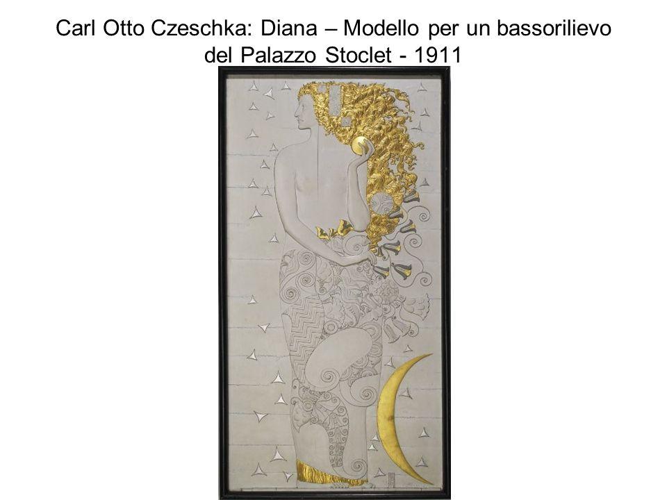 Carl Otto Czeschka: Diana – Modello per un bassorilievo del Palazzo Stoclet - 1911