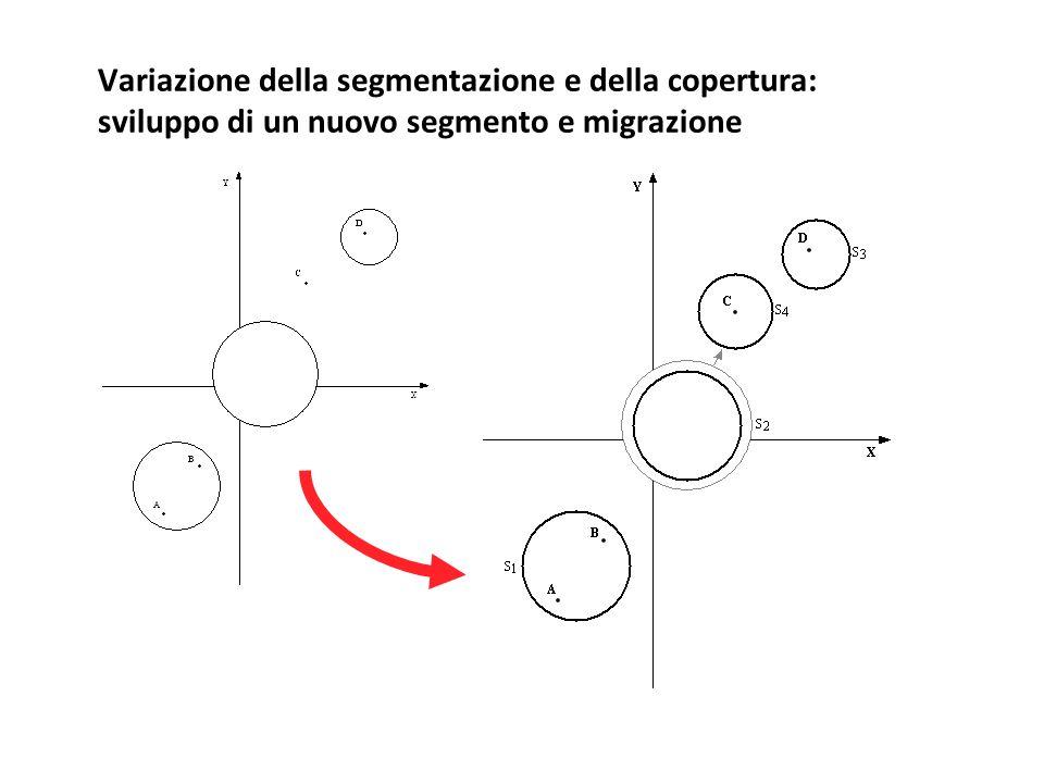 Variazione della segmentazione e della copertura: sviluppo di un nuovo segmento e migrazione