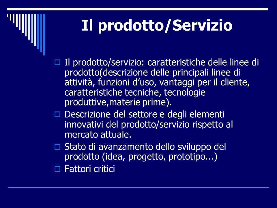 Il prodotto/Servizio