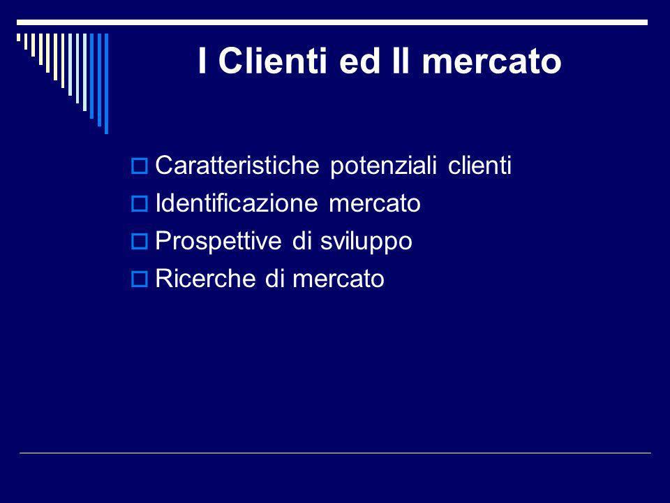 I Clienti ed Il mercato Caratteristiche potenziali clienti