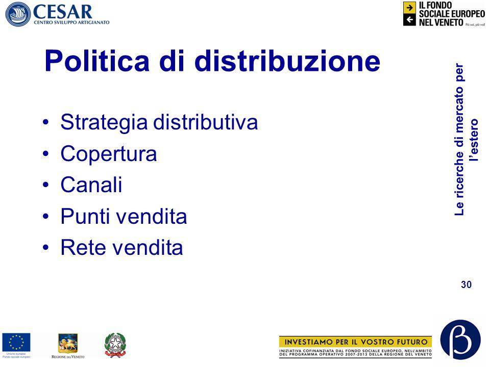 Politica di distribuzione