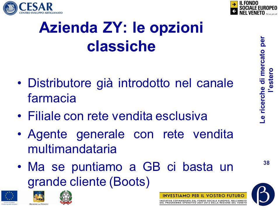 Azienda ZY: le opzioni classiche