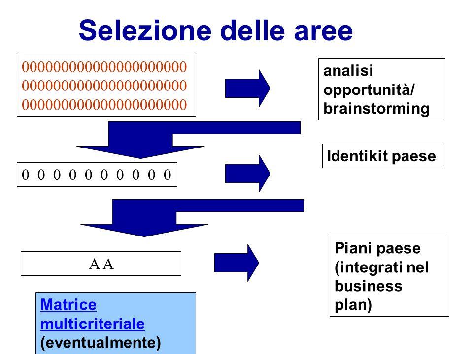 Selezione delle aree 000000000000000000000000000000000000000000000000000000000000000. analisi opportunità/ brainstorming.