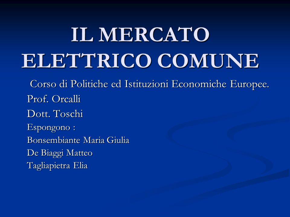 IL MERCATO ELETTRICO COMUNE