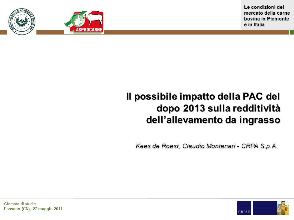 Il possibile impatto della PAC del dopo 2013 sulla redditività dell'allevamento da ingrasso