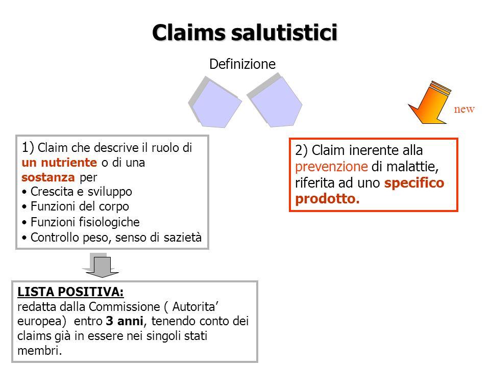 Claims salutistici Definizione