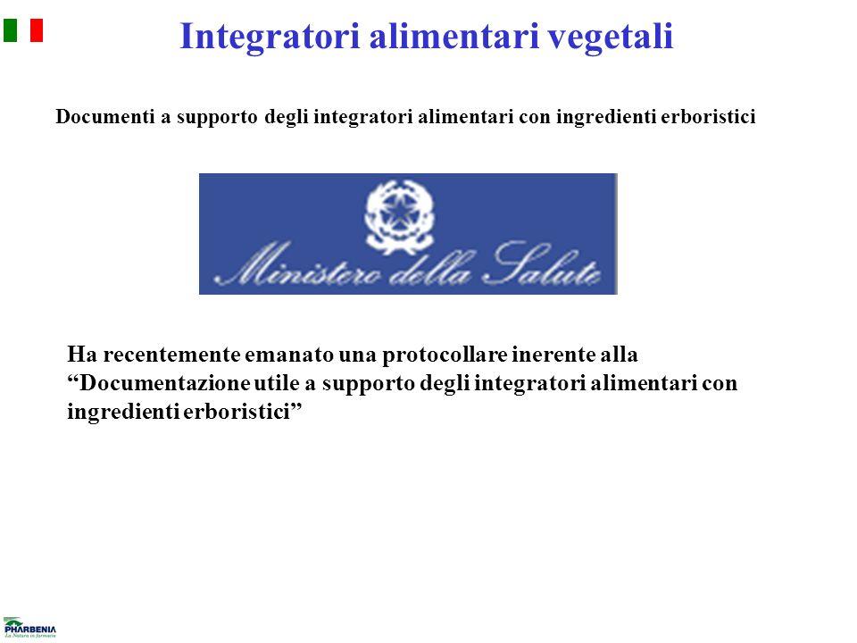 Integratori alimentari vegetali