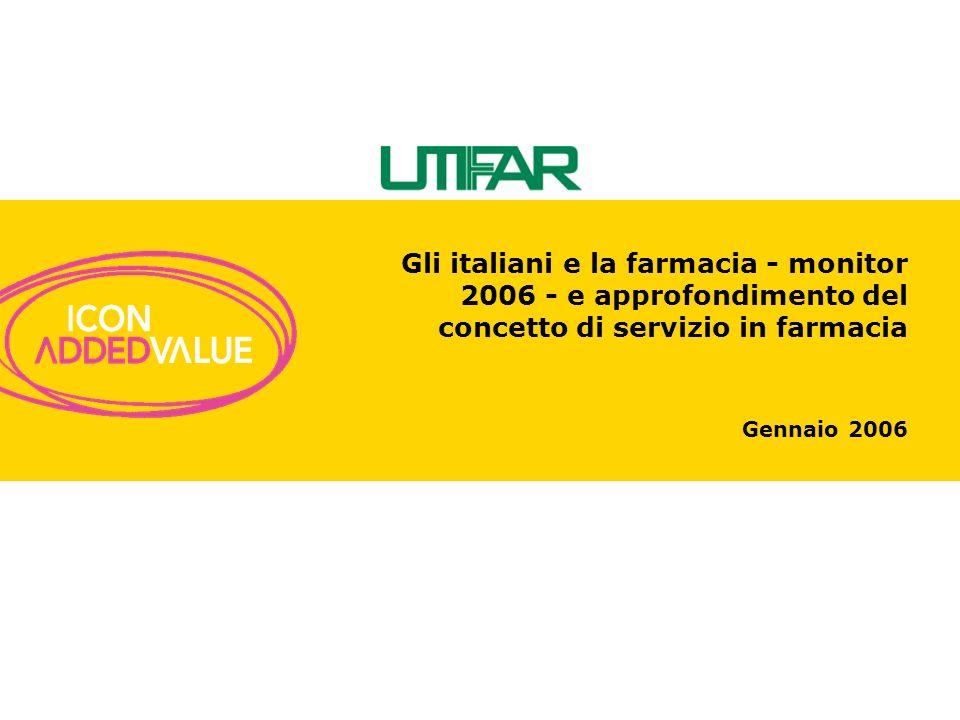Gli italiani e la farmacia - monitor 2006 - e approfondimento del concetto di servizio in farmacia