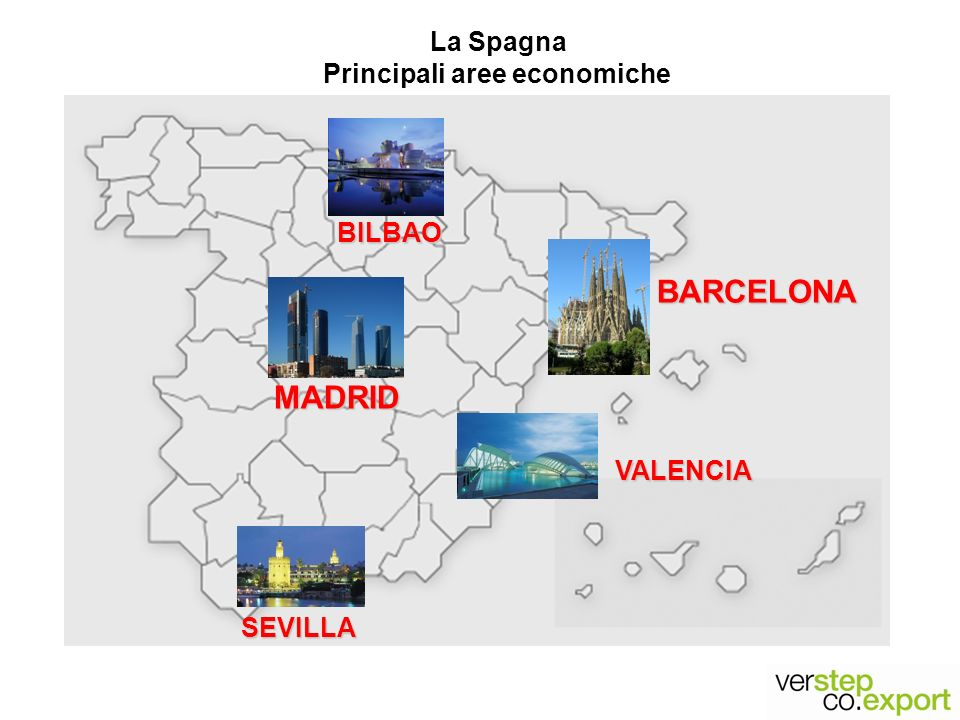 La Spagna Principali aree economiche