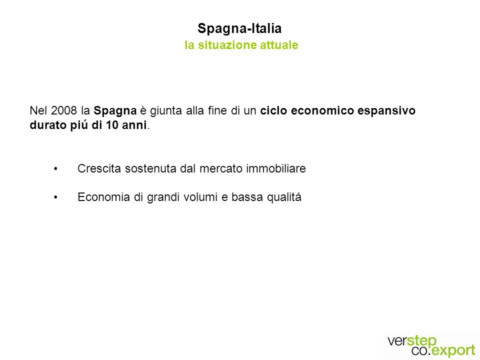Spagna-Italia la situazione attuale
