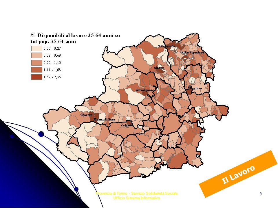 Il Lavoro Provincia di Torino - Servizio Solidarietà Sociale Ufficio Sistema Informativo