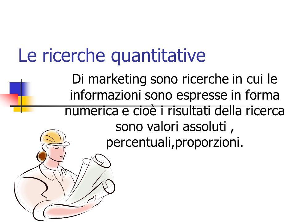 Le ricerche quantitative