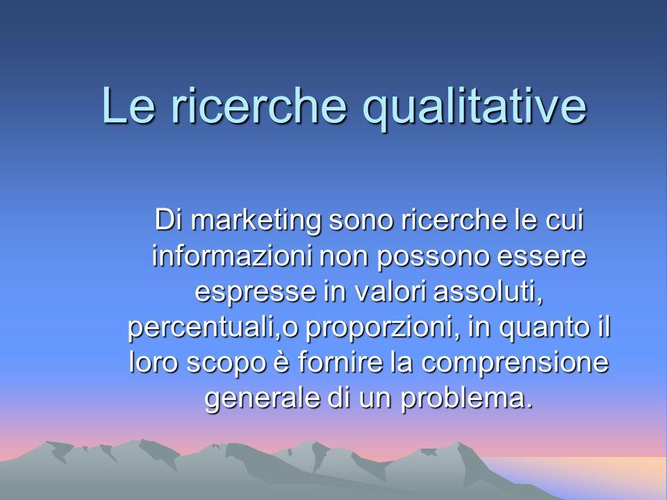 Le ricerche qualitative