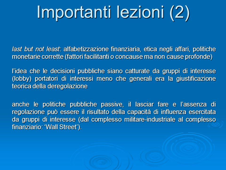 Importanti lezioni (2)