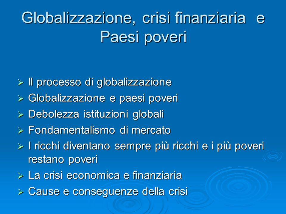 Globalizzazione, crisi finanziaria e Paesi poveri