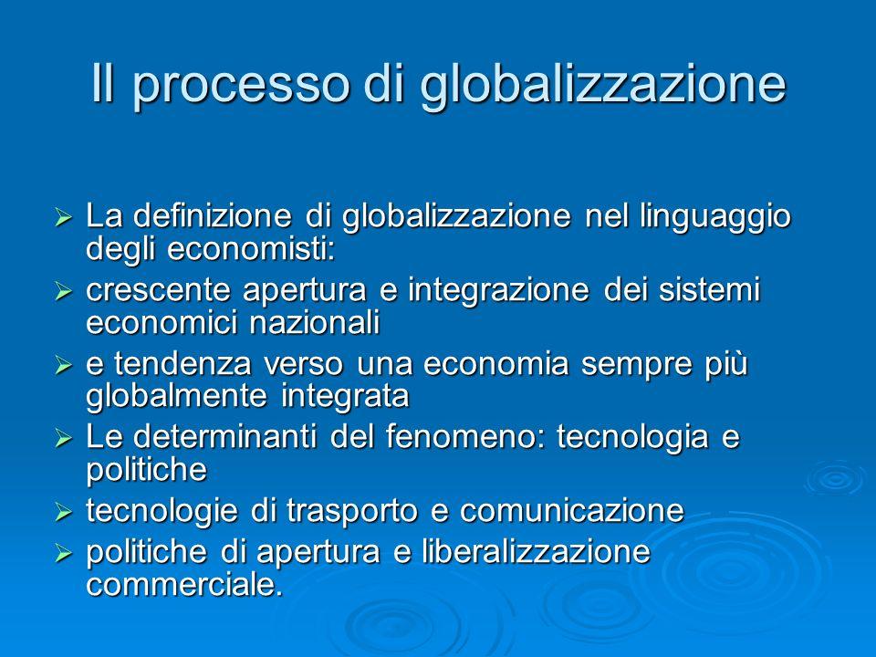 Il processo di globalizzazione