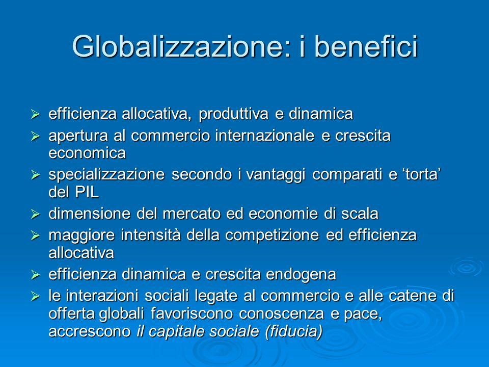 Globalizzazione: i benefici