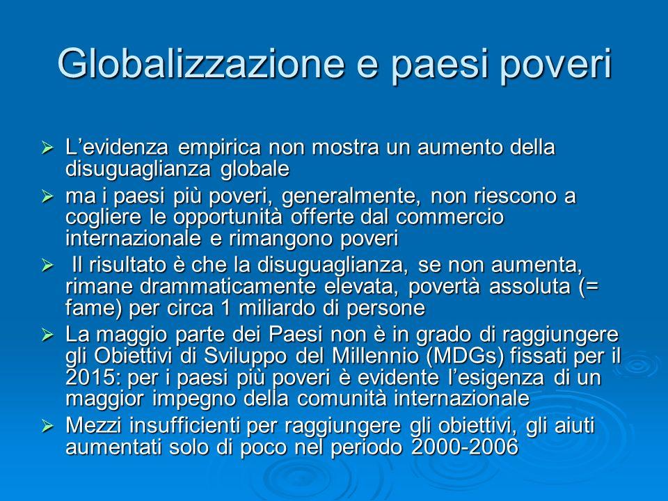 Globalizzazione e paesi poveri