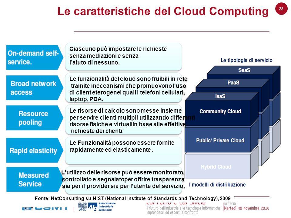 Le caratteristiche del Cloud Computing